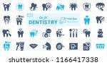 dentistry vector icon set b04 | Shutterstock .eps vector #1166417338