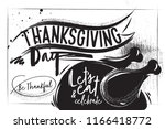 charcoal great turkey for... | Shutterstock .eps vector #1166418772
