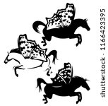 pegasus horses with fairy... | Shutterstock .eps vector #1166423395