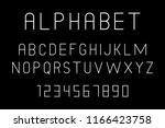 white of font and alphabet.... | Shutterstock .eps vector #1166423758