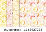 collection of autumn patterns... | Shutterstock .eps vector #1166427235