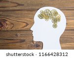 silhouette of a man's head with ... | Shutterstock . vector #1166428312