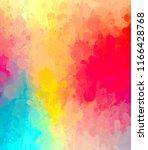 multicolored splash watercolor... | Shutterstock . vector #1166428768