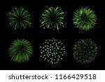 beautiful green fireworks set....