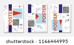 covers templates set with... | Shutterstock .eps vector #1166444995
