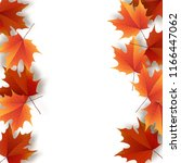autumn leaves. bright colourful ... | Shutterstock .eps vector #1166447062