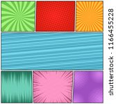 comic book page abstract... | Shutterstock .eps vector #1166455228