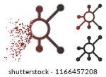 network node icon in dissolved  ... | Shutterstock .eps vector #1166457208