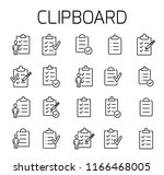 clipboard related vector icon... | Shutterstock .eps vector #1166468005