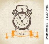 Alarm Clock  Hand Drawn...
