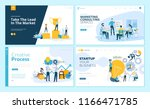set of web page design... | Shutterstock .eps vector #1166471785