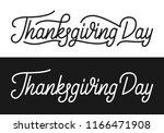 thanksgiving day. thanksgiving... | Shutterstock .eps vector #1166471908