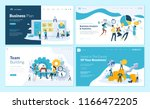 set of web page design... | Shutterstock .eps vector #1166472205