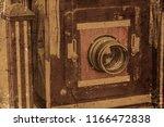 vintage old camera large format ... | Shutterstock . vector #1166472838