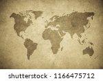grunge map of the world | Shutterstock . vector #1166475712