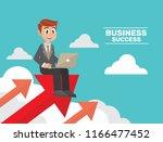 cartoon character  businessman... | Shutterstock .eps vector #1166477452