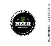 craft beer vintage emblem for... | Shutterstock .eps vector #1166477848