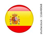 the spanish flag in the form of ... | Shutterstock . vector #116648068