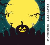 halloween label vector. free... | Shutterstock .eps vector #1166482465
