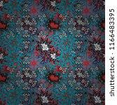 vector sketch of colored mehndi ... | Shutterstock .eps vector #1166483395
