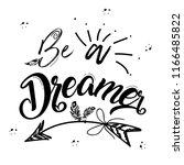 boho art lettering with... | Shutterstock .eps vector #1166485822