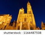 senlis notre dame cathedral.... | Shutterstock . vector #1166487538