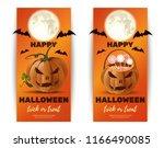 halloween banner design... | Shutterstock .eps vector #1166490085