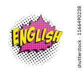 word english in colorful retro... | Shutterstock .eps vector #1166490238