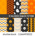 ten halloween different... | Shutterstock .eps vector #1166493022