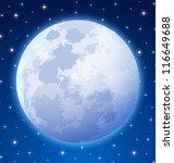 full moon on starry night sky... | Shutterstock .eps vector #116649688