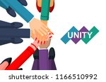 unity concept. top view of a... | Shutterstock .eps vector #1166510992