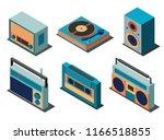 retro musical equipment set on...   Shutterstock .eps vector #1166518855