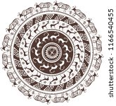 round ornamental pattern with... | Shutterstock .eps vector #1166540455