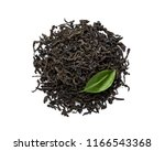 dried black tea leaves isolated ... | Shutterstock . vector #1166543368