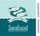 seafood menu design for... | Shutterstock .eps vector #1166546455