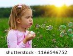 portrait of funny lovely little ... | Shutterstock . vector #1166546752