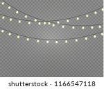 vector christmas lights ... | Shutterstock .eps vector #1166547118