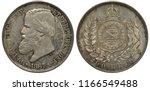 brazil brazilian silver coin... | Shutterstock . vector #1166549488