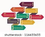 template banner numbers | Shutterstock .eps vector #116655655
