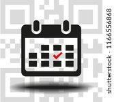 vector icon calendar   Shutterstock .eps vector #1166556868