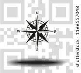 vector compass icon   Shutterstock .eps vector #1166557048