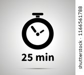 twenty five minutes timer... | Shutterstock .eps vector #1166561788