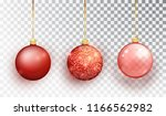 red christmas tree toy set... | Shutterstock .eps vector #1166562982