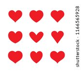 collection of heart... | Shutterstock .eps vector #1166565928