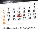 calendar planner for the month  ... | Shutterstock . vector #1166566252