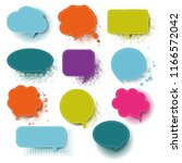 retro colorful speech bubble... | Shutterstock . vector #1166572042
