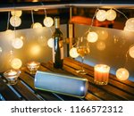 party on the terrace in the... | Shutterstock . vector #1166572312