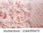 pink fluffy fur background. ... | Shutterstock . vector #1166590675