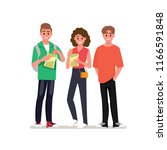 group of cheerful young people...   Shutterstock .eps vector #1166591848