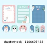 printable and sticker with... | Shutterstock .eps vector #1166605438